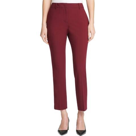 Dkny Womens Fixed-Waist Skinny Casual Trouser Pants