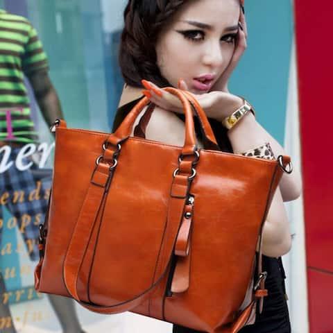 Fashion Pu Tote Women Leather Handbags Messenger Shoulder Bags