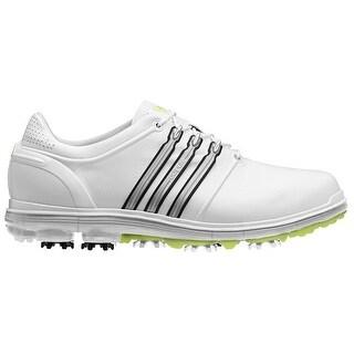 Adidas Men's Pure 360 White/Metallic Silver/Slime Golf Shoes Q46946