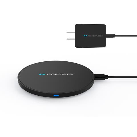 Techsmarter 15W Fast Wireless Charger with Wall Charger