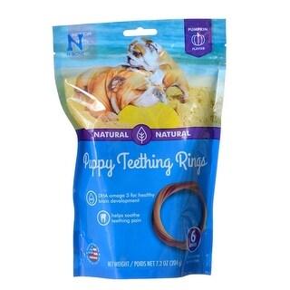 """N-Bone Puppy Teething Ring - Pumpkin 6 Pack - (3.5"""" Rings)"""