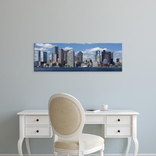 Easy Art Prints Panoramic Images's 'Buildings at the waterfront, Boston, Massachusetts, USA' Premium Canvas Art