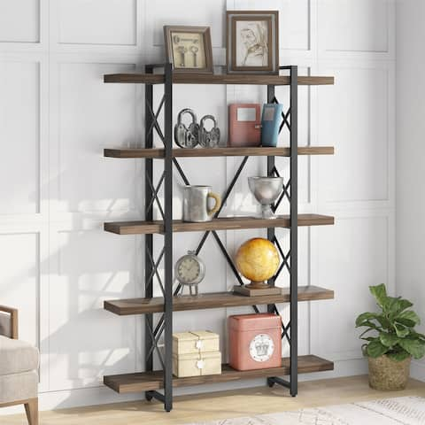 5-Tier Bookcase Bookshelves, Open Display Storage Shelves