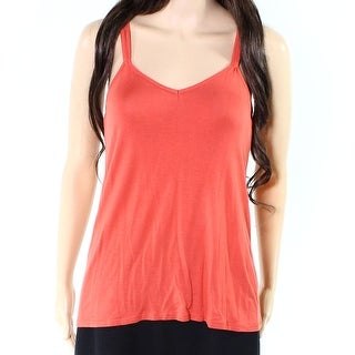 Splendid NEW Orange Womens Size Medium M Racerback Knit Sleep Shirt