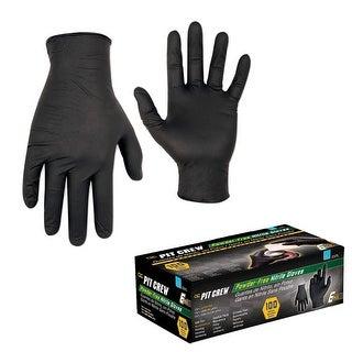 CLC Black Nitrile Disposable Gloves - Box Of 100 - Medium