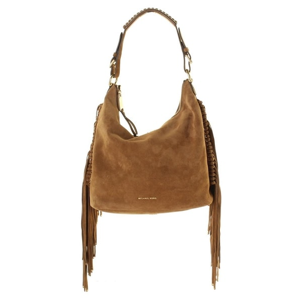 bf3167375b Shop MICHAEL Michael Kors Womens Billy Hobo Handbag Suede Fringe - LARGE -  Free Shipping Today - Overstock - 19546328