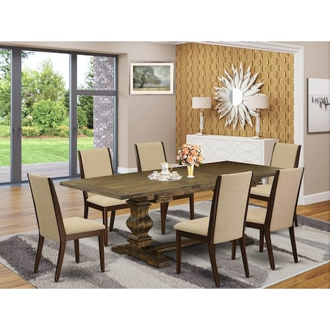 Dining Sets with Rectangle Table and Parson Chairs