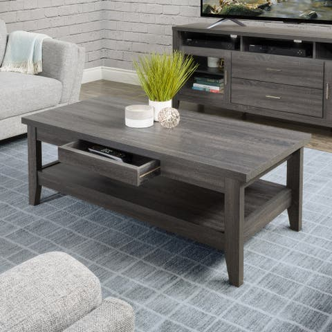 CorLiving Hollywood Coffee Table with Drawers