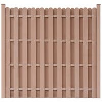 vidaXL WPC Fence Panel Square Brown