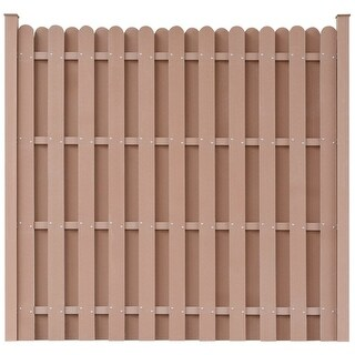 vidaXL WPC Fence Panel Square Brown