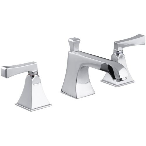 Kohler K-454-X4V Memoirs Widespread Bathroom Faucet with Ultra-Glide ...