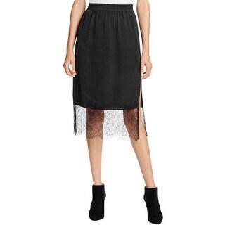 Aqua Womens A-Line Skirt Lace Slip