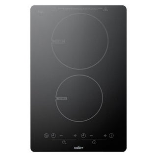 Summit SINC2B120 120V 2-Burner Induction Cooktop with 7 Piece Induction Cookware