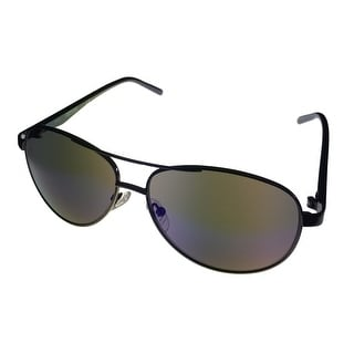 Kenneth Cole Reaction Mens Gunmetal Sunglass Aviator Blue Flash Lens KC1260 8X - Medium