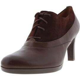 Naturalizer Womens Audrey Leather Round Toe Oxford Heels - 7.5 medium (b,m)