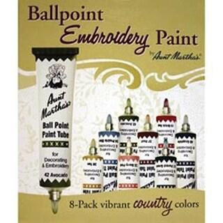 Country Colors - Aunt Martha's Ballpoint Paint Tubes 1Oz 8/Pkg