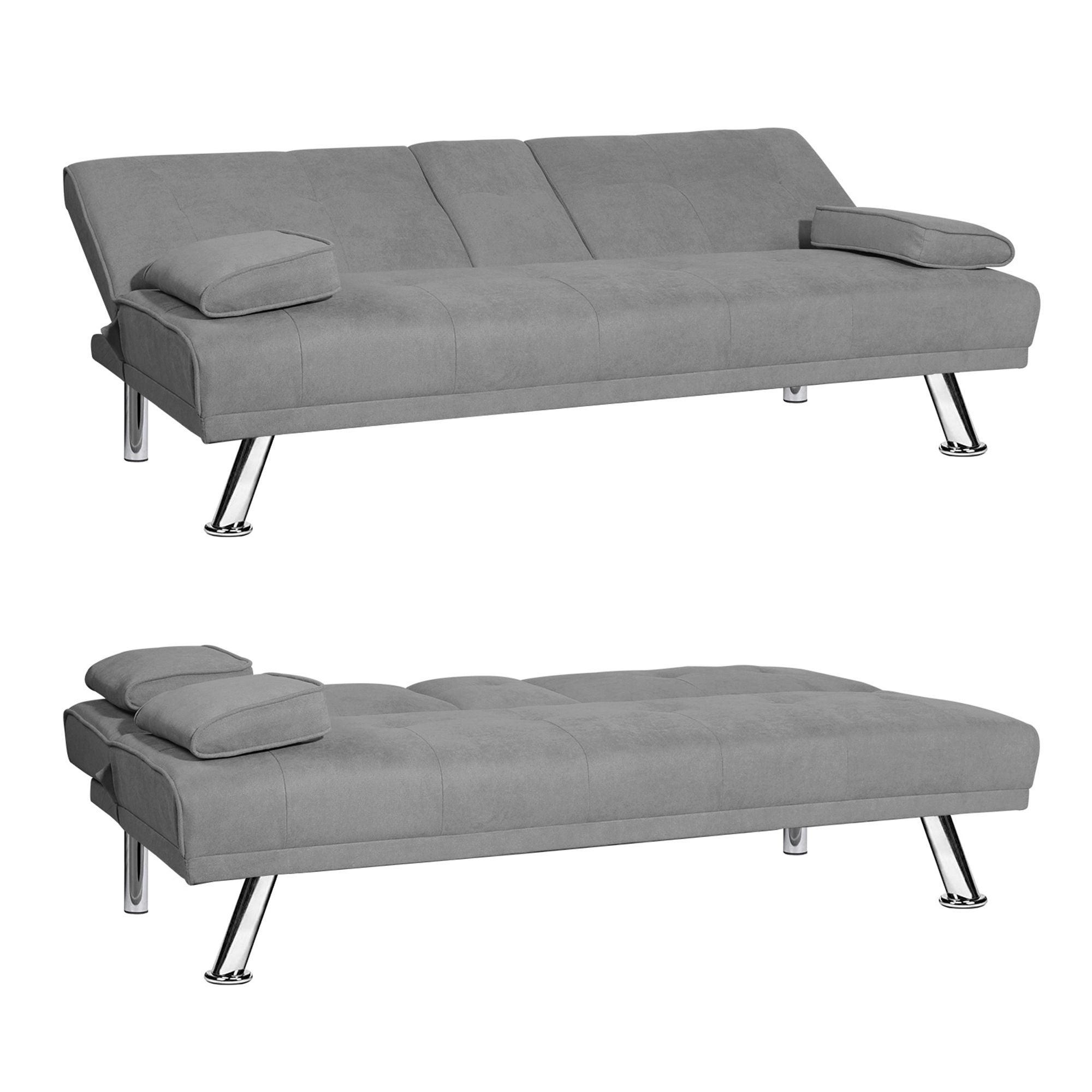 Picture of: Modern Armless Fabric Sleeper Sofa Overstock 31881373