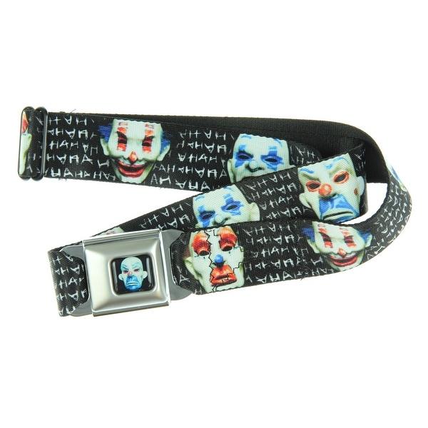 DC Comics Batman Seatbelt Belt Joker Full Clown Mask Gotham City Thugs-Holds Pants Up