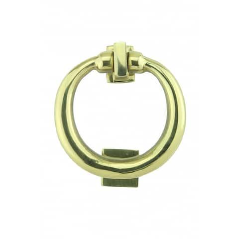 Renovator's Supply Solid Brass Ring Door Knocker 4.5 inch Height x 4 inch Width