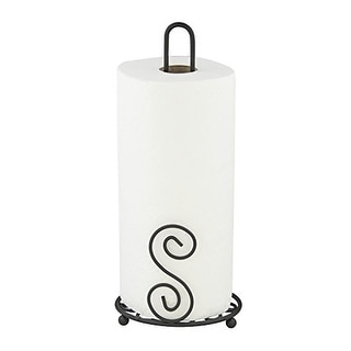 Link to Home Basics Scroll Collection Paper Towel Holder, Bronze, 6x6x13.5 Inches Similar Items in Kitchen Storage