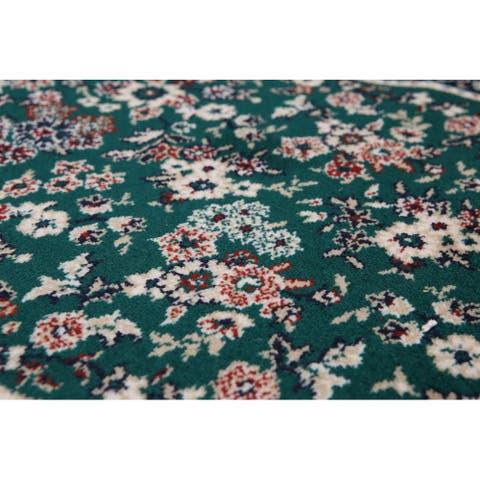 "Oriental Area Rug Machine Made Wool Traditional Botanical Print (2'3""x34') - 2'3"" x 34'"