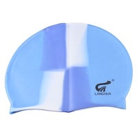 8889dbab52f Unique Bargains Silicone Elastic Swimming Hat Keep Hair Dry Ear Protector  Gear Swim Cap for Adult