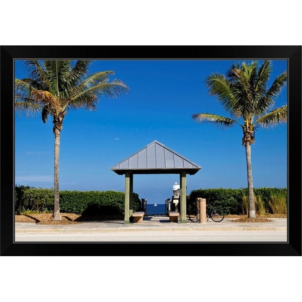 """Juno Beach, Florida"" Black Framed Print"