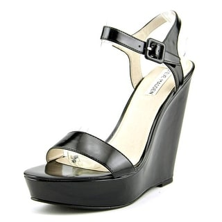Steve Madden Prestine Women  Open Toe Synthetic Black Wedge Heel
