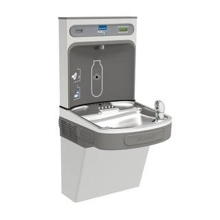 Elkay EZSDWSVRSK EZH2O Wall Mount Drinking Fountain and Bottle Filling Station with Vandal Resistant Bubbler and Glass Filler