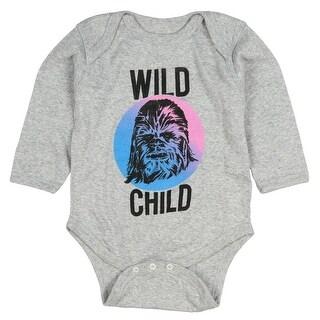 Mad Engine Star Wars Unisex Baby Wild Child Chewbacca Romper Snapsuit
