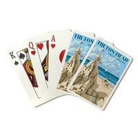 Hilton Head, SC - Sand Castle - LP Artwork (Poker Playing Cards Deck)
