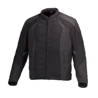 Men MotorcycleTextile Mesh Race Jacket CE Protection Black MBJ061