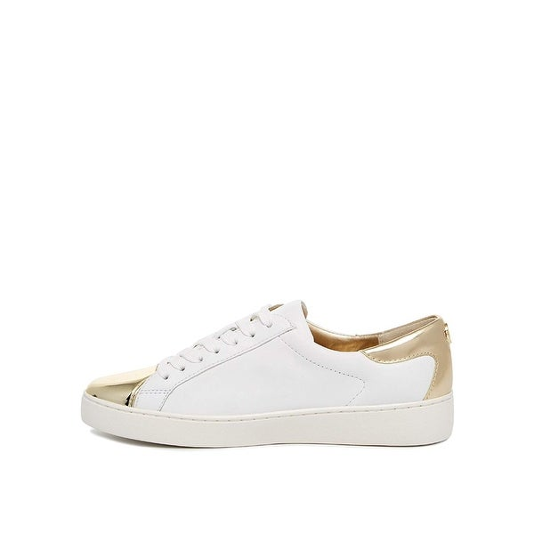 MICHAEL Michael Kors Womens Frankie Sneaker Leather Leather Low Top Lace Up F... - 8.5