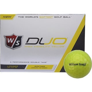 Wilson Staff Duo Golf Balls, Yellow (12-Pack)