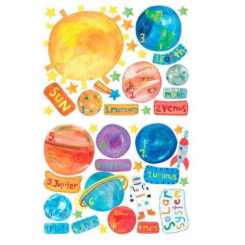 Solar System Vinyl Decals - One Size