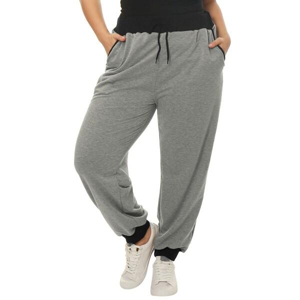 e37a2f5d804 Shop Allegra K Women s Plus Size Jogger Pants - On Sale - Free ...