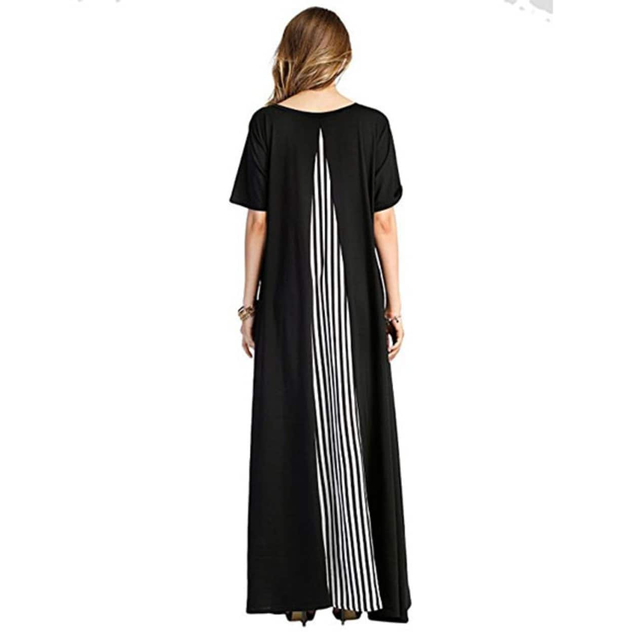 Gorgeous Maxi Dress with Short Sleeve Oversize Jersey Long Cloth One Size FT2081