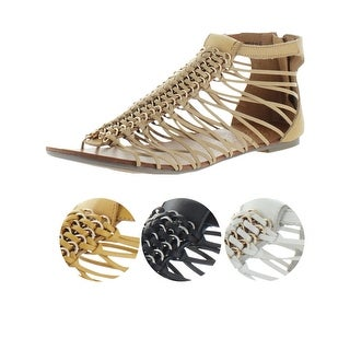 Naughty Monkey Aphrodite Women's Strappy Gladiator Leather Sandals