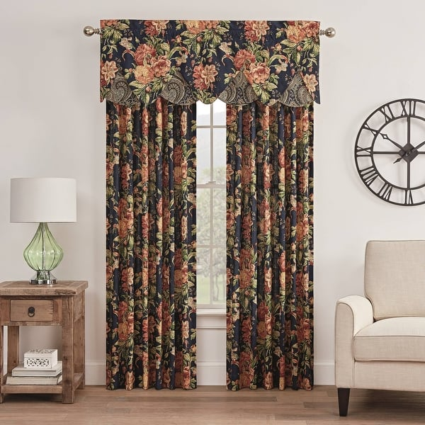 Waverly Kensington Bloom Floral Design Window Curtain Drape one panel