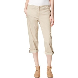 Eileen Fisher Womens Cropped Pants Adjustable Legs Twill