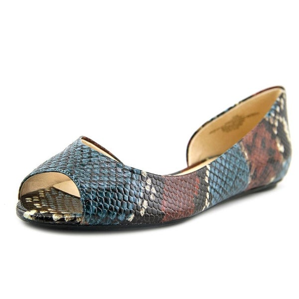Nine West Bachloret Women Peep-Toe Synthetic Multi Color Flats