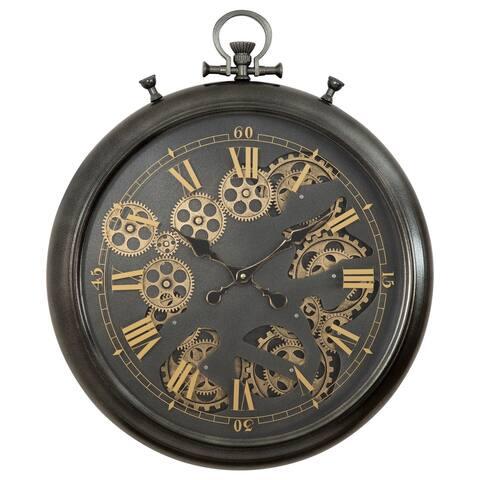 Pocket Watch Gear Clock - 24.2 x 22.7 x 3