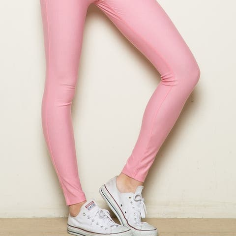 Mid-Rise Jeggings Light Pink