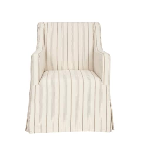 "Safavieh Cottage Slipcover Beige Living Room Chair - 25.6"" x 26.4"" x 35.6"""