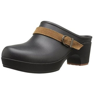 Crocs Womens Sarah Clogs Belted Heel