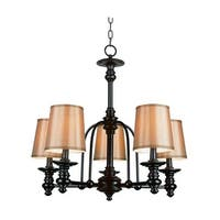 Trans Globe Lighting 9625 Five Light Up Lighting Chandelier from the Modern Meets Traditional Collection