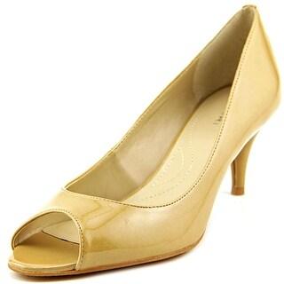 Tahari Marie Peep-Toe Patent Leather Heels