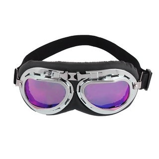 Adjustable Elastic Nylon Strap Motorcycle Purple Glasses Sunglasses for Man