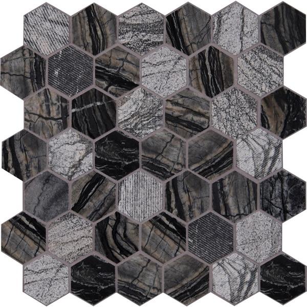 "MSI SMOT-2HEX 2"" x 2"" Hexagon Mosaic Tile - Varied Marble Visual - Sold by Carton (9.8 SF/Carton)"