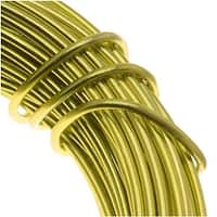 Aluminum Craft Wire Apple Green 12 Gauge 39 Feet (11.8 Meters)